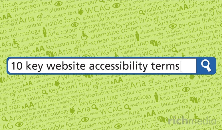search bar searching with 10 key website accessibility terms