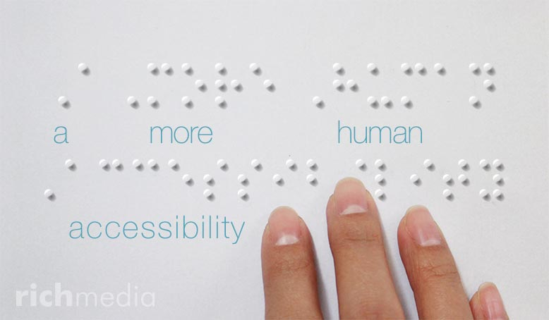 Hand Touching Braille