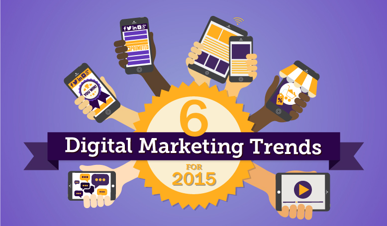 6 digital marketing trends for 2015 title with hands holding phones