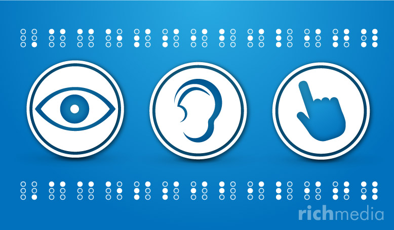 accessibility icons and braill